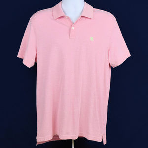 Express Men's Light Pink Polo Shirt Size Large
